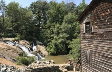 Picturesque NC Waterfall Along a Historic Old Grist Mill