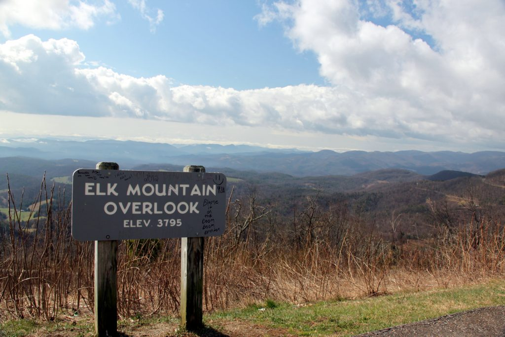Elk MOuntain Overlook, Blue Ridge parkway, North Carolina