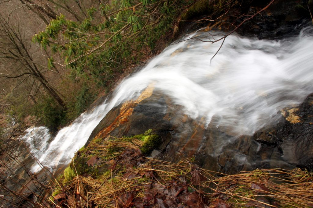 "Cascade Falls, ""The Cascades"", Blue Ridge Parkway, NC, North Carolina, E. B. Jeffress Park"