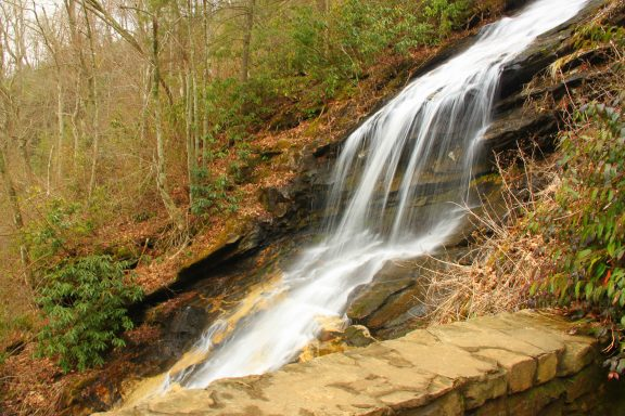 "Cascade Falls, ""The Cascades"", Blue Ridge Parkway, NC, North Carolina, E. B. Jeffress Park"