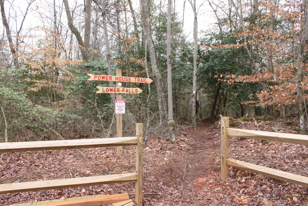 Elkin Valley Trails Association, Powerhouse trail, Carter Falls